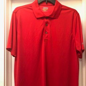 Red short sleeve 3 button polo